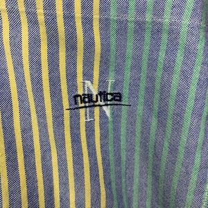 Nautica Shirts - 90's VTG Nautica Striped L/S Button Down Size L